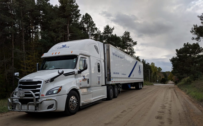 Hazmat - certified carrier, Falcon Motor Xpress Ltd. satisfies Canada's and the US Department of Transportation's requirements for moving hazardous materials safely.